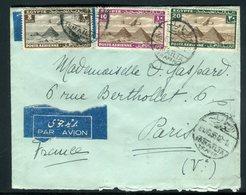 Egypte - Enveloppe De Ismailia Pour La France En 1936 Par Avion , Affranchissement Plaisant ( Tricolore ) -  Réf J6 - Egypt