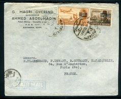 Egypte - Enveloppe Commerciale De Alexandrie Pour Paris , Affranchissement Plaisant -  Réf J8 - Egypt