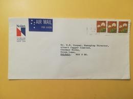 1978 BUSTA INTESTATA NOLAN AIR MAIL AUSTRALIA BOLLO PIANTE PLANTS ANNULLO PERTH - 1966-79 Elizabeth II
