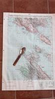 1956 RAB CROATIA JNA YUGOSLAVIA ARMY MAP MILITARY CHART PLAN Kvarner ADRIATIC SEA KRK ST GRGUR GOLI OTOK Jurandvor BASKA - Topographical Maps