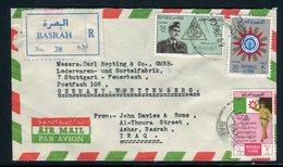 Iraq - Enveloppe En Recommandé De Basrah Pour L' Allemagne En 1962, Affranchissement Plaisant -  Réf J15 - Iraq