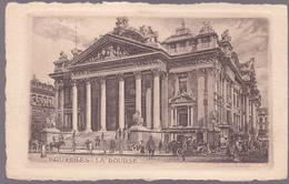 CPA Lithographie -  Bruxelles - La Bourse - Monuments, édifices