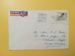 1966 BUSTA INTESTATA AIR MAIL AUSTRALIA BOLLO UCCELLI BIRDS ANNULLO SIDNEY SYDNEY ETICHETTA - 1966-79 Elizabeth II