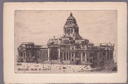 CPA Lithographie -  Bruxelles - Le Palais De Justice - Monuments, édifices