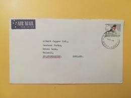 1966 BUSTA INTESTATA AIR MAIL AUSTRALIA BOLLO UCCELLI BIRDS ANNULLO WEST AUS - 1966-79 Elizabeth II