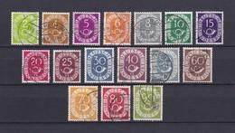 BRD - 1951/52 - Michel Nr. 123/138 - Gest. - 50 Euro - BRD