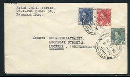 Iraq - Enveloppe De Bagdad Pour La Suisse En 1935, Affranchissement Plaisant ( Tricolore ) -  Réf J17 - Iraq
