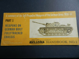 3) WEAPONS ON GERMAN BUILT FULLYTRACKED CHASSIS 1939/45 BELLONA HANDBOOK 1 CONDIZIONI ABBASTANZA BUONE COME DA FOTO FORM - Guerra 1939-45