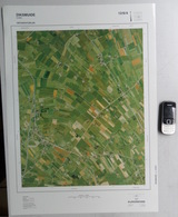 GROTE LUCHT-FOTO LEKE ZANDE KEIEM DE MOKKER KOEKELARE SINT-PIETERS-KAPELLE 48x67cm ORTHOFOTOPLAN PHOTO AERIENNE R612 - Diksmuide