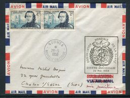 Nouvelle Calédonie - Enveloppe De Nouméa Pour La France En 1958 Par Avion, Affranchissement Plaisant -  Réf J24 - Neukaledonien