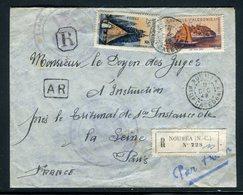 Nouvelle Calédonie - Enveloppe En Recommandé De Nouméa Pour La France En 1949  Affranchissement Plaisant -  Réf J25 - Neukaledonien