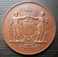 1885 Médaille Signée Desaide Société De Tir Du 130ème Territorial Concours De 1885 - France