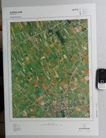 GROTE LUCHT-FOTO KOEKELARE MOERE DE MOKKER MOERDIJK GISTEL In 1990 48x67cm 1/10.000 ORTHOFOTOPLAN PHOTO AERIENNE R614 - Koekelare