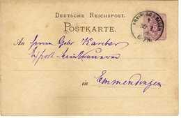 STEMPEL: Freiburg In Baden.- Stamped Stationery 1879 - Germania