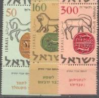 1957 New Year (5718)  Bale 144-6 / Sc 129-31 / Mi 145-7 TAB MNH/neuf/postfrisch [gra] - Israël