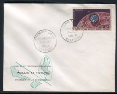 Wallis & Futuna - Enveloppe FDC 1962 , Télécommunications Spatiales -  Réf J40 - FDC