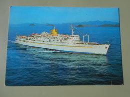 BATEAUX PAQUEBOT T/N ENRICO COSTA LE PROVENCE CONSTRUIT 1951 DETRUIT 2001 ALANG INDE - Dampfer