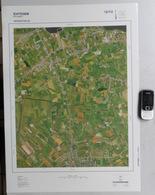 GROTE LUCHT-FOTO EERNEGEM WESTKERKE ROKSEM BEKEGEM ETTELGEM ICHTEGEM 48x67cm 1/10.000 ORTHOFOTOPLAN PHOTO AERIENNE R613 - Ichtegem