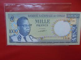 CONGO 1000 FRANCS 1964 PEU CIRCULER (F.1) - Kongo