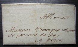 1646 Lettre Au Substitut Du Procureur Du Roi Avec Sceau De Cire à L'arrière à Propos Du Maire De Crépy En Valois, Oise - Manuscripts
