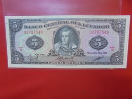 EQUATEUR 5 SUCRES 1988 PEU CIRCULER (F.1) - Ecuador