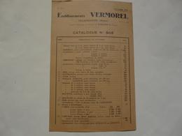 VIEUX PAPIERS - 69 VILLEFRANCHE - ETS VERMOREL : Catalogue N°505 - Publicités