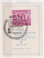 DDR 1954  BLOC Mi  N° 10 - Blocs