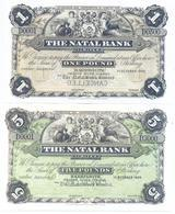 South Africa Natal Bank 4 Note Set 1903 COPY - Zuid-Afrika