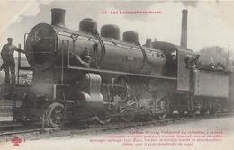 LOCOMOTIVE ( Ouest ) Machine N° 4524 Compound à 4 Cylindres ....... - Trains