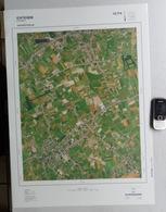 GROTE LUCHT-FOTO ICHTEGEM EERNEGEM In 1990 48x67cm KAART 1/10.000 ORTHOFOTOPLAN TOPOGRAPHIE PHOTO AERIENNE R615 - Ichtegem