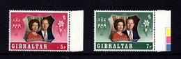 GIBRALTAR    1972    Royal  Silver  Wedding    Set  Of  2    MNH - Gibraltar