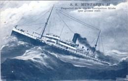 Transports Maritimes -  Paquebot  MUSTAPHA II - Paquebot Le La Compagnie De Navigation Mixte - Steamers