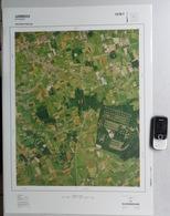 GROTE LUCHT-FOTO ZERKEGEM JABBEKE BEKEGEM SNELLEGEM In 1990 48x67cm KAART 1/10.000 ORTHOFOTOPLAN PHOTO AERIENNE R616 - Jabbeke