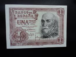 ESPAGNE : 1 PESETA   22.7.1953    C.B. 127 / P 144a     SUP à SUP+ - [ 3] 1936-1975 : Regency Of Franco