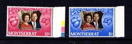 MONTSERRAT    1972    Royal  Silver  Wedding    Set  Of  2    MNH - Montserrat
