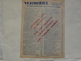VIEUX PAPIERS - 69 VILLEFRANCHE - ETS VERMOREL : Pulvérisateur ECLAIR - Liste Des Pièces De Rechange - Publicités