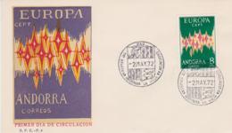 Spanish  Andorra 1972 FDC Europa CEPT (G84-108) - Europa-CEPT