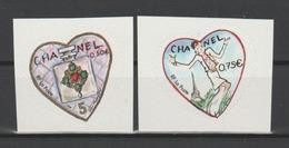 FRANCE / 2004 / Y&T N° 3632B/3633B ** Ou AA 38/39 ** : Cœurs Chanel/Lagerfeld (2 TP Adhésifs De Feuille) - France