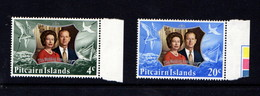 PITCAIRN  ISLANDS    1972    Royal  Silver  Wedding    Set  Of  2    MNH - Stamps