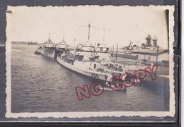Photo Navires à Quai Dakar 1942 - 1939-45