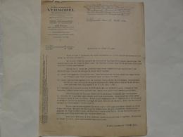 VIEUX PAPIERS - 69 VILLEFRANCHE - ETS VERMOREL : Lettre Mars 1940 - Publicités