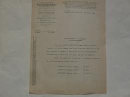 VIEUX PAPIERS - 69 VILLEFRANCHE - ETS VERMOREL : Lettre  28 Mars 1940 - Publicités
