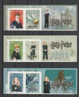 FRANCE / 2007 / Y&T N° 4024A/4026A ** Ou AA 114/116 ** : Harry Potter (3 TP Adhésifs Haut De Feuillet) - état D'origine - France