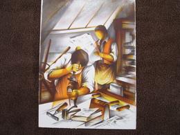 Lithographie Originale De Raymond Poulet Né En 1934 Non Signee: L'Imprimeur Relieur (Livre, Reliure) - Estampes & Gravures