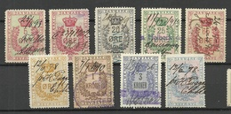DENMARK Dänemark 1870/90ies Stempelmarken Documentary Stamps Tax Revenue O - Fiscali