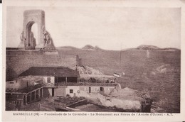 CPA 13 --  MARSEILLE -- Promenade De La Corniche - Le Monument Aux Héros De L'Armée D'Orient + Restaurant - Canebière, Centre Ville