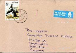 NAMIBIE. N°790 De 1997 Sur Enveloppe Ayant Circulé. WWF Manchot Du Cap. - Pingouins & Manchots