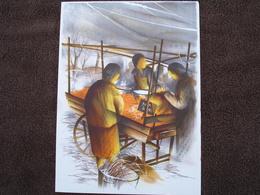 Lithographie Originale De Raymond Poulet Né En 1934 Non Signee: Les Marchands Des Quatre Saisons (Marchande, Marche) - Estampes & Gravures