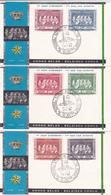 Série De 3 FDC - 1/07/1958 - Congo Belge / Belgische Congo - Timbres N° 344/9 - 1947-60: Lettres