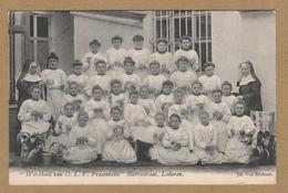 """Lokeren """" Werkhuis Van O.L.V. Presentatie""""  Sterrestraat, Lokeren  (1908). Geanimeerd. - Lokeren"""